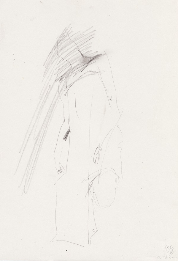 Pencil Figure on rough paper
