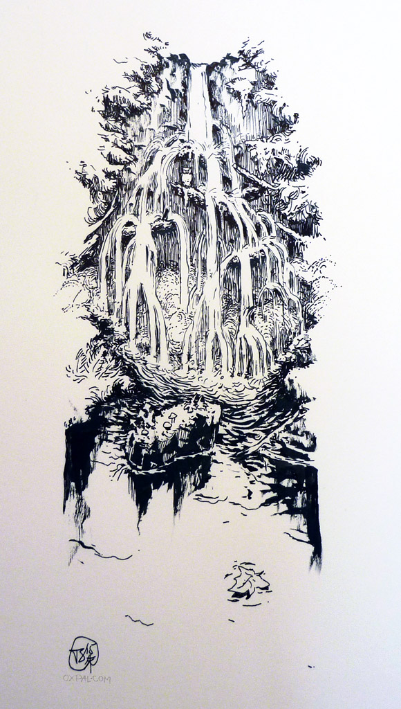 Calligraphy paper drawing