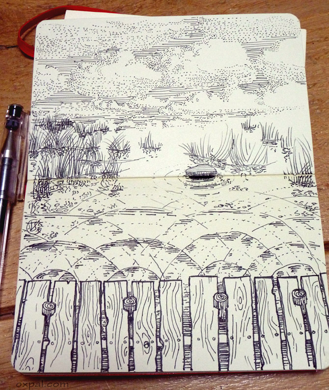 Wave Pen Drawing