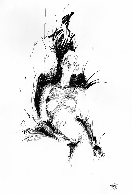 Figure Drawing Fire