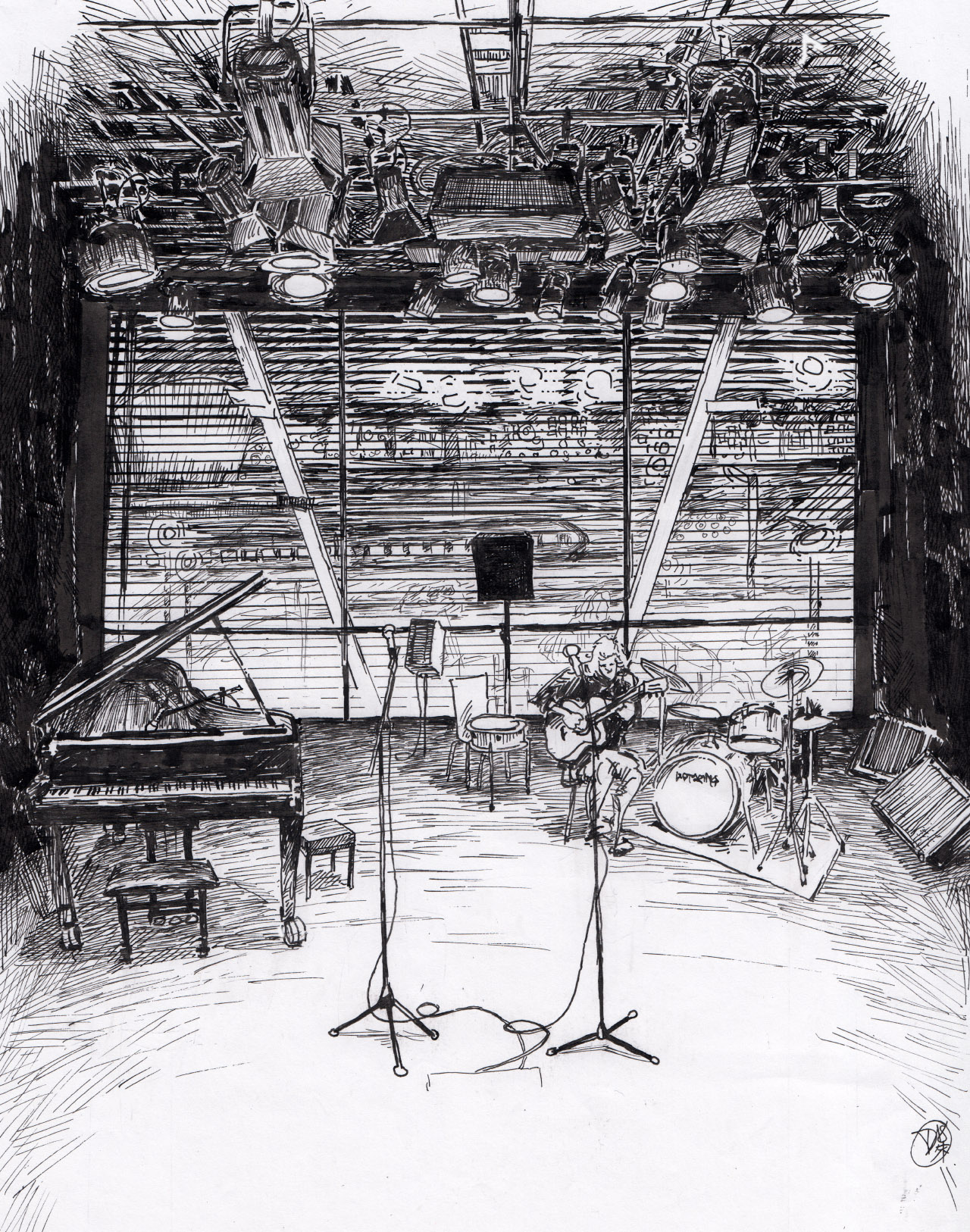 Jazz Stage Drawing