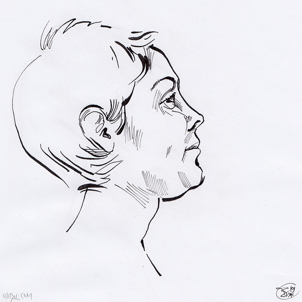 Stylized Ink Portrait