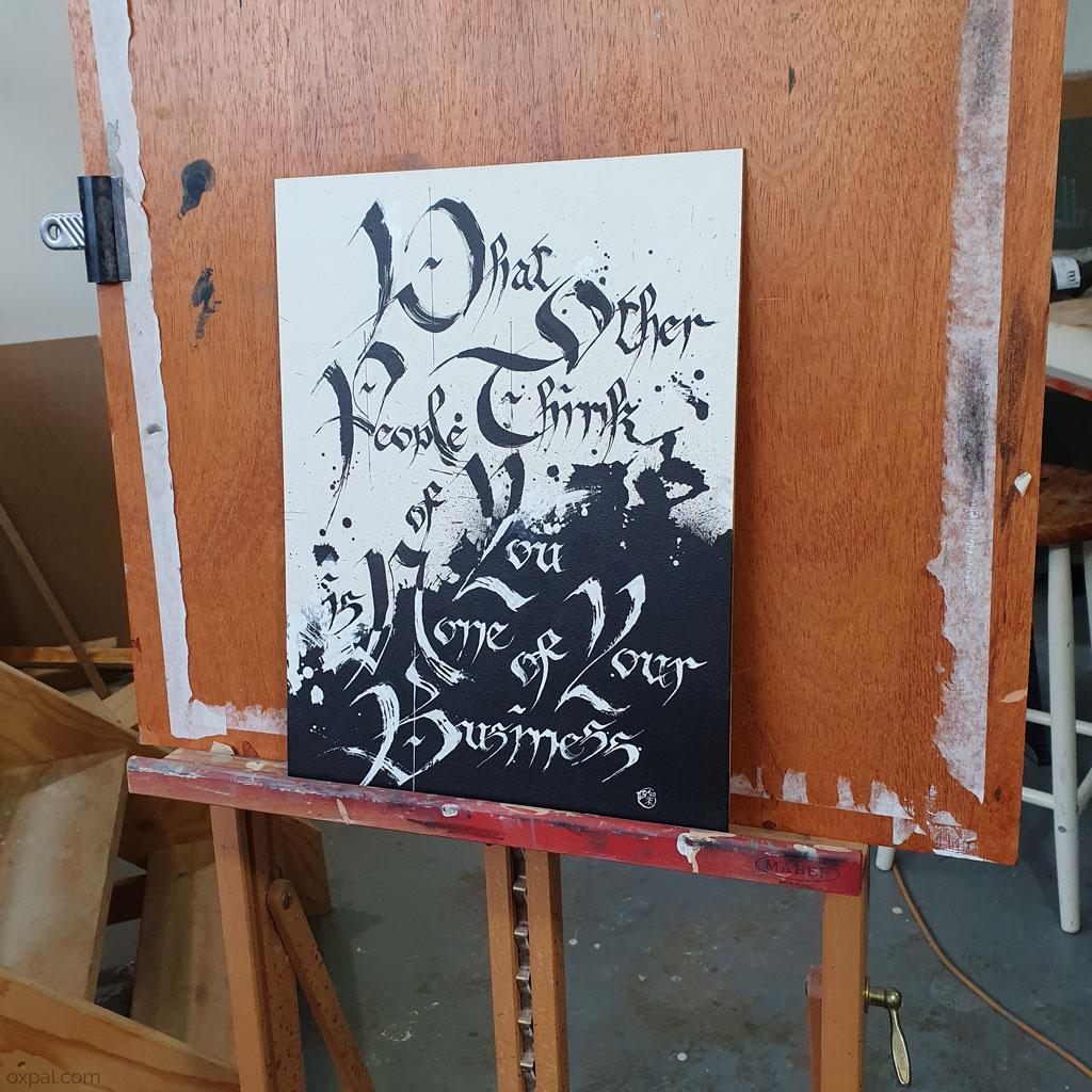 Easel Calligraphy
