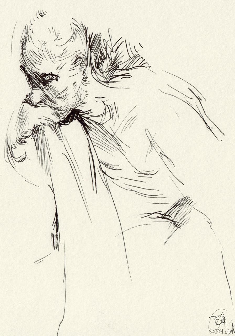 thinking figure