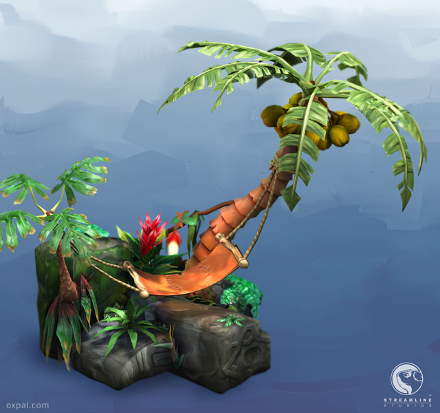 Painted Plant textures ingame