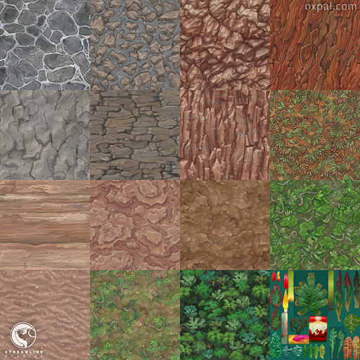 Stylized painted textures