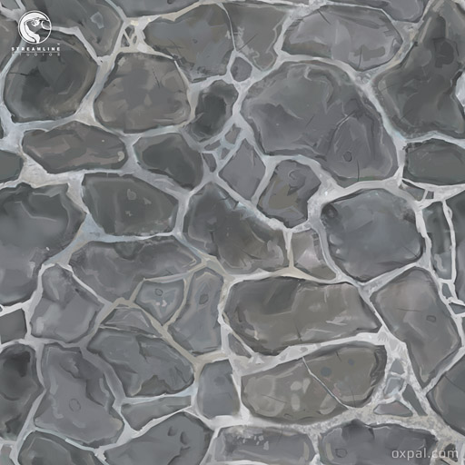 Painted cobble stone texture