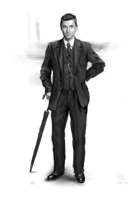 1910s World War One era dashing suit