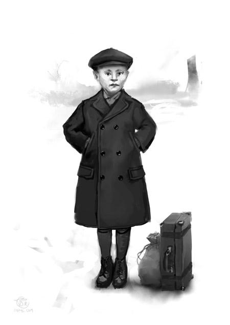 1910s European refugee dress - WW1