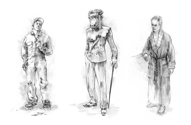 Faust in Paris - Various Male costume designs