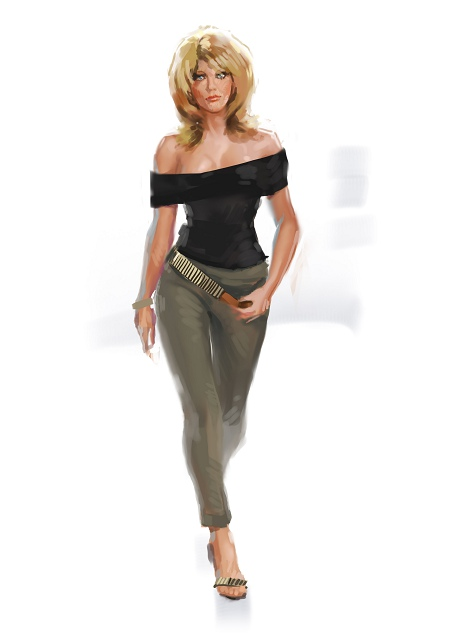 Costume Musical- Hij Gelooft in Mij: Chantal Janzen in white skirt kostuum