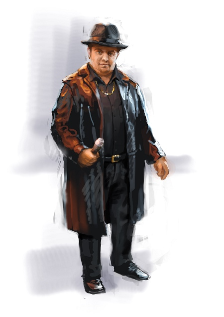 Costume Musical- Hij Gelooft in Mij: André Hazes - black trenchcoat, hat and black shirt