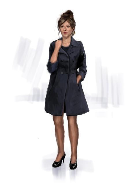 Costume Musical- Hij Gelooft in Mij:Plain and sober black dress - short dark jacket.