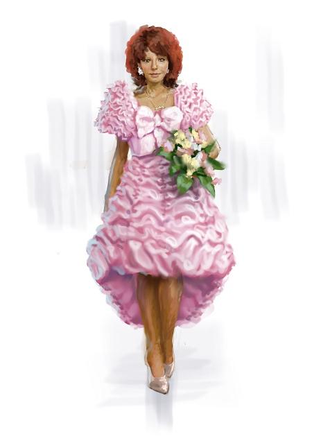 Costume Musical- Hij Gelooft in Mij: Chantal Janzen in wedding dress