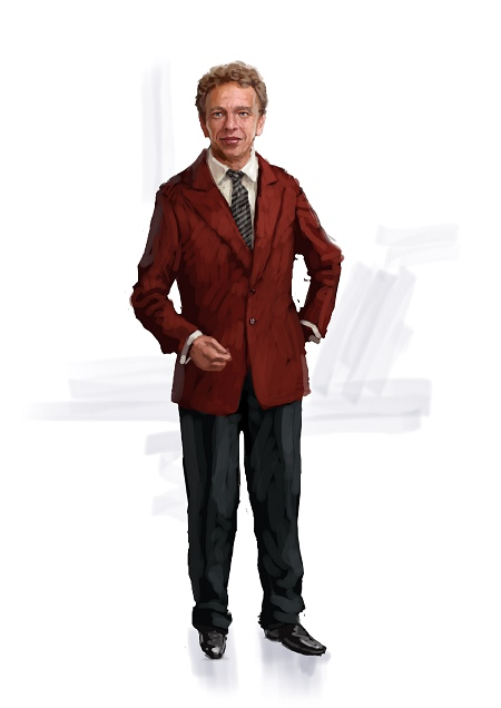 Costume Musical- Hij Gelooft in Mij: Red jacket with black trousers