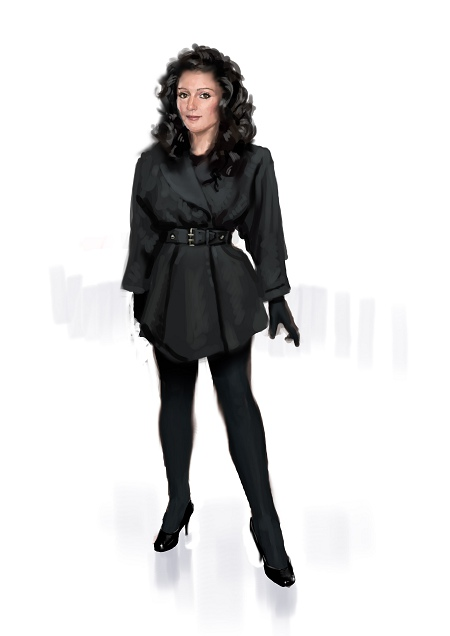 Costume Musical - black coat and black gloves