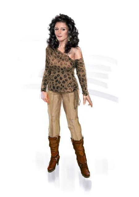 Costume Musical- Hij Gelooft in Mij: tiger-print blouse