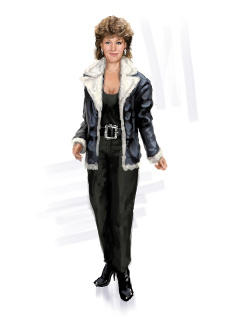 Musical: black leather jacket costume