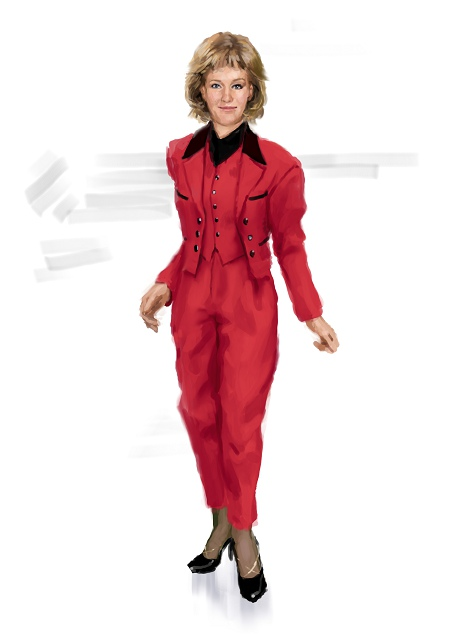 Costume Musical- Hij Gelooft in Mij:Red 90s dress, trousers