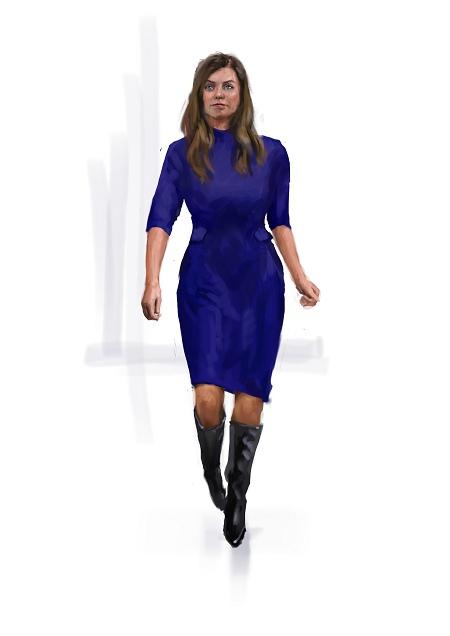 Costume Musical- Hij Gelooft in Mij: Blue one-piece dress