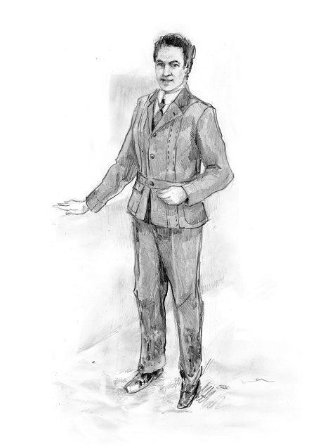 Costume Norfolk Jacket (high class dress until 1900)