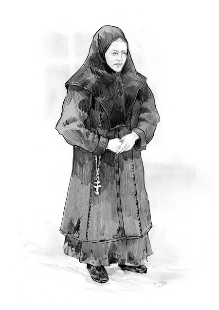 Katia Kabanova (Kaja, Katija) - russian orthodox costume design - ca. 1880