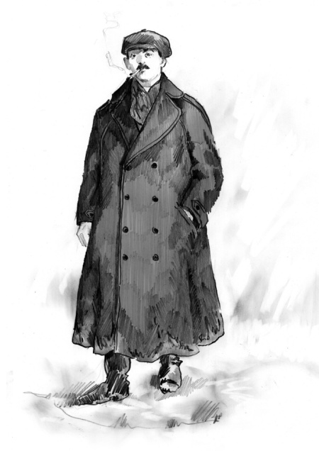 Russian mens costume, turn of the century, clothing