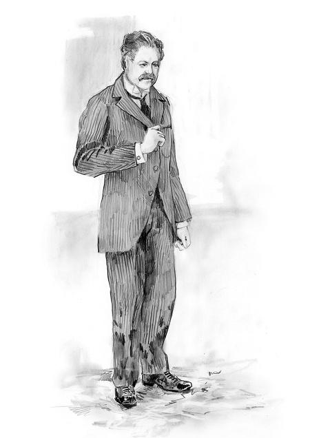 Katia Kabanova (Kaja, Katija, Katya) - tichon, upper class men's costume ca. 1880
