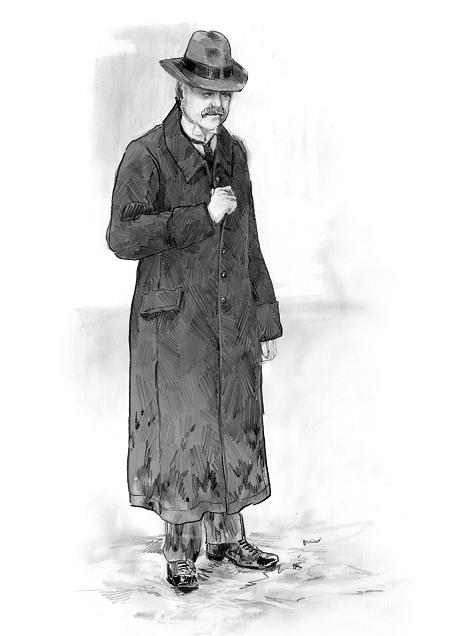 Katia Kabanova (Kaja, Katija, Katya) - Men's coat (upper class dress, ca. 1880)