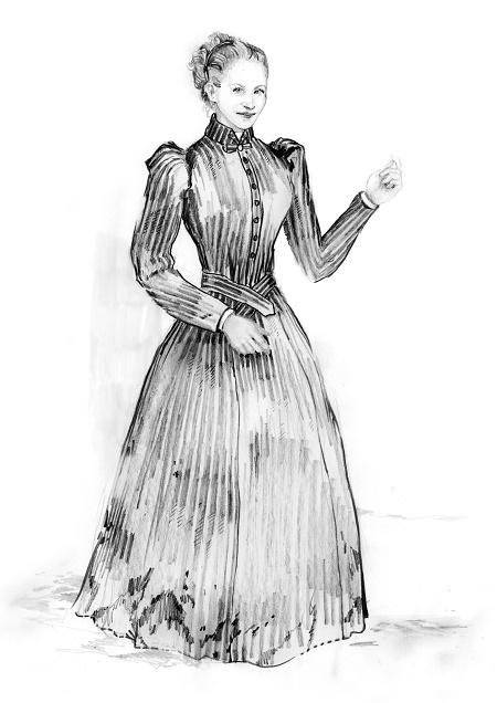 Katia Kabanova (Kaja, Katija, Katya) - upper class womans dress - ca. 1880