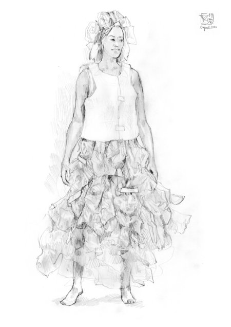 Costume Design - a puffy dress