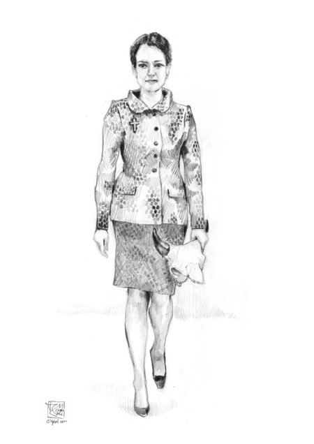 Costume Design - skirt and dress with dottet pattern