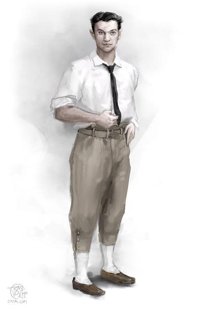 Vaslav Nijinsky in a simple dress for dancing.