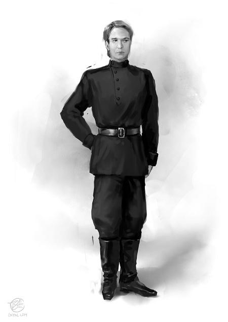 Russian 1910s costume: Servant Chauffeur dress.