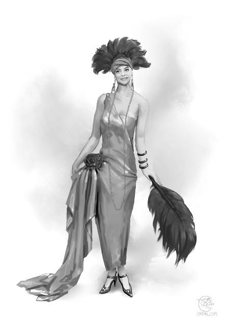 Russian upper class costume: 1920s Festive Gown.