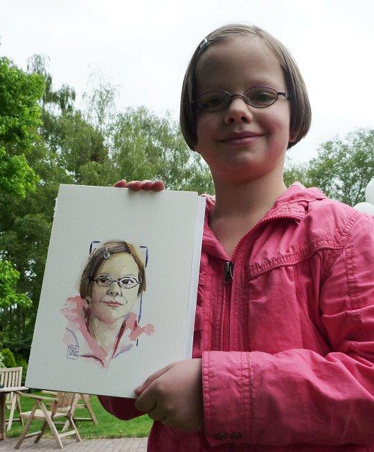 Berkendijke Watercolor Portrait.