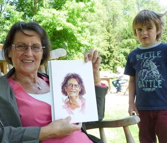 Berkendijke Watercolor Portrait.
