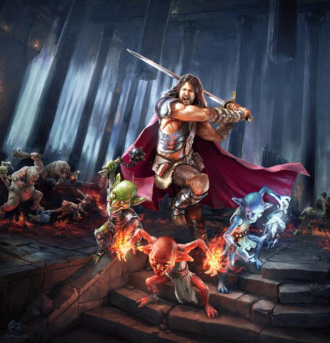 Fantasy Illustration - Goblin Dungeon