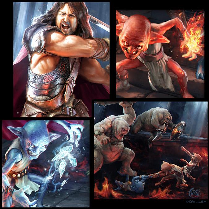 Goblin Fantasy Illustration - Details view