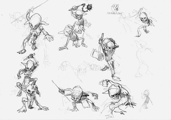 Goblins pencil sketches 1
