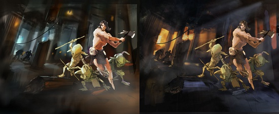 Color Blockout - Fantasy artwork