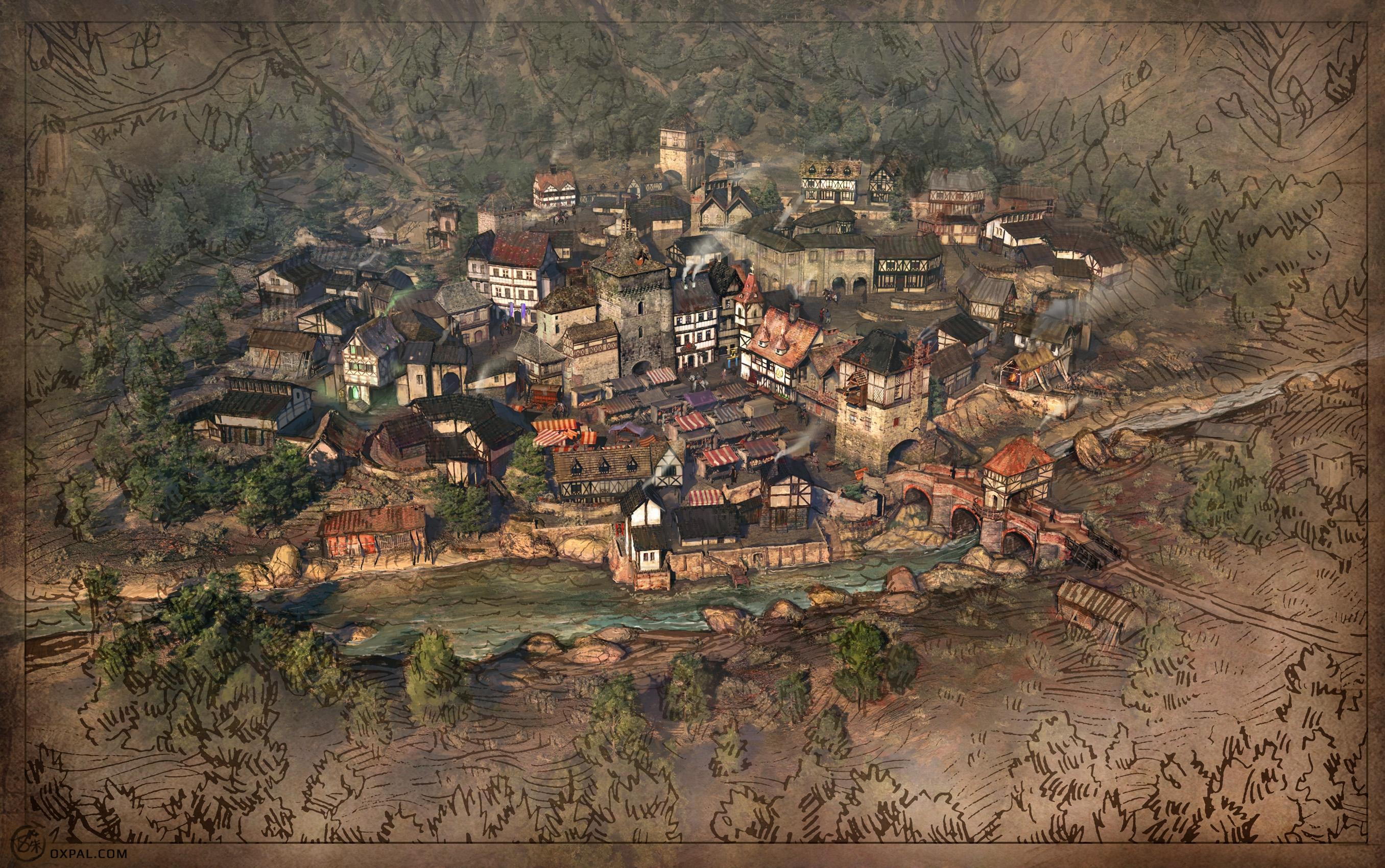 map of medieval village