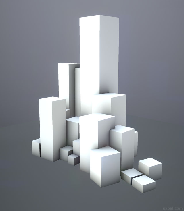 3D boxes with shadow