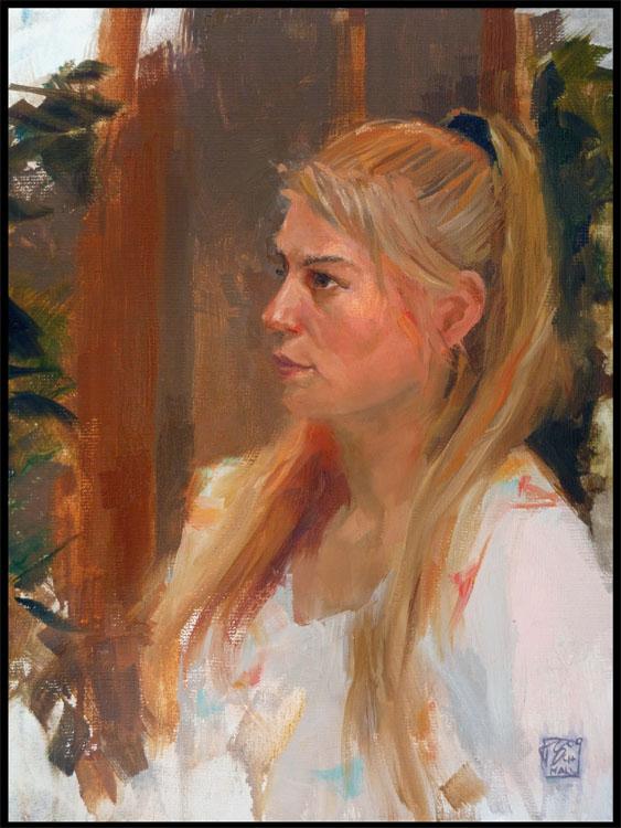 Portrait Ilse, 30x40 oil on linen