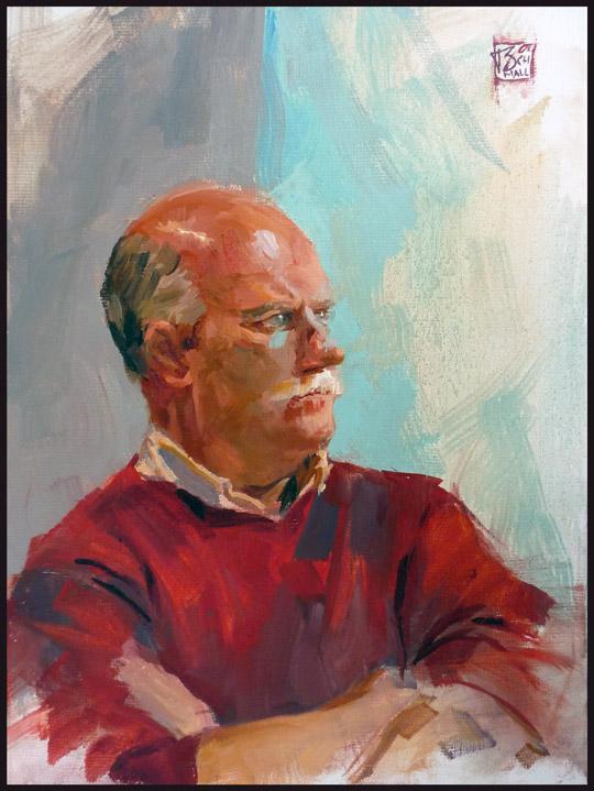 Portrait Dirk, 30x40 oil on linen