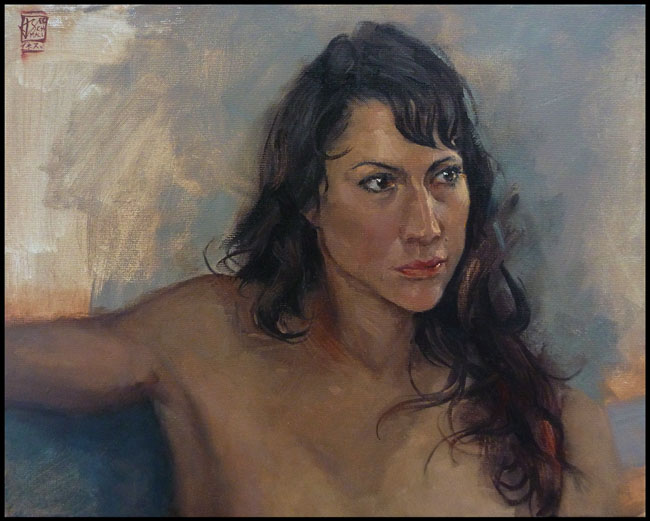 Portrait Inez, 40x50cm Oil on Canvas