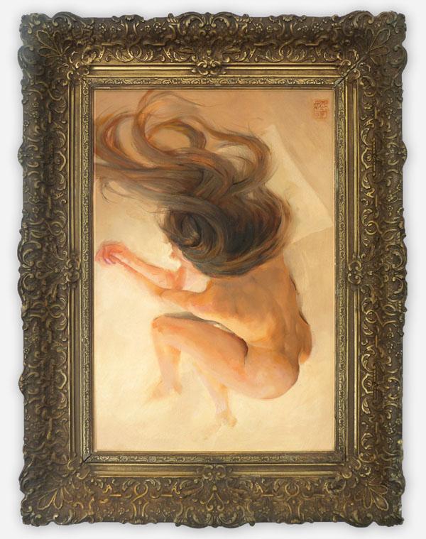Yola, oil on linnen 40x60cm - with frame