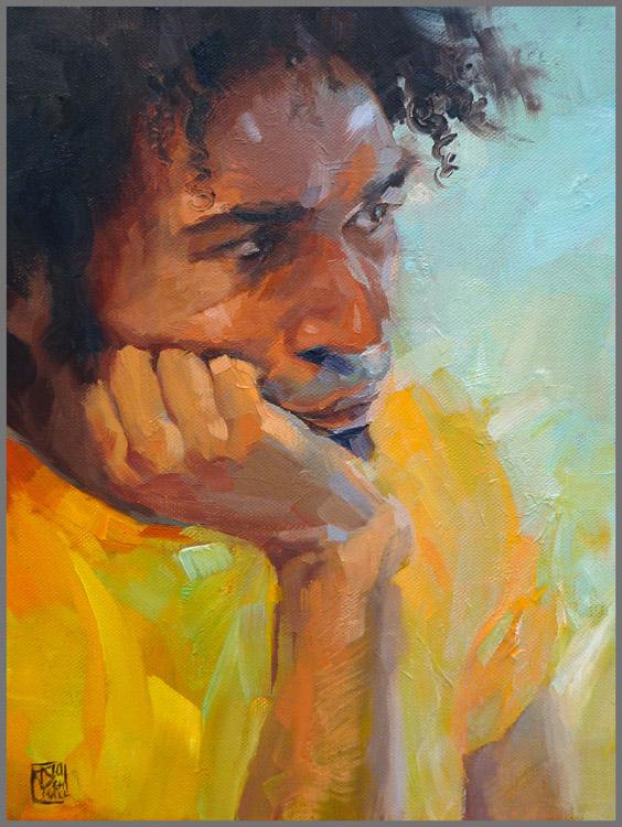 """Fabio"", oil on 40cm x 30cm linen"