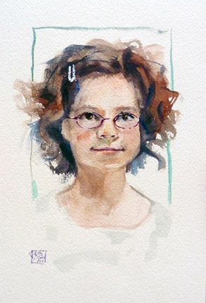 Nonredheadvisit, water color on 31x23cm paper