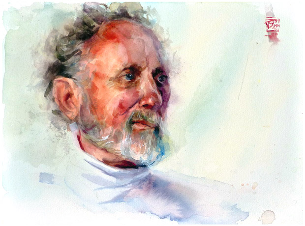 Peter, water color on 23x31cm paper